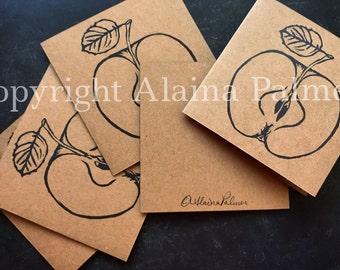 Avery Hill Alaina Palmer Hand Printed Apple Cross Section Notecard Set