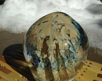 Ocean Life - hand blown art glass paperweight