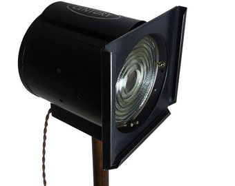 Vintage 1930s Industrial Stage Light, Beautifully Refurbished, New Wiring