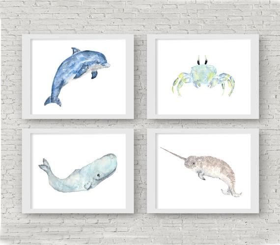 Nursery Animal Prints Animal Nursery Art Ocean Nursery