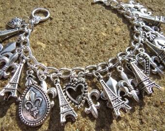 PARIS, FRANCE French Themed Charm Bracelet