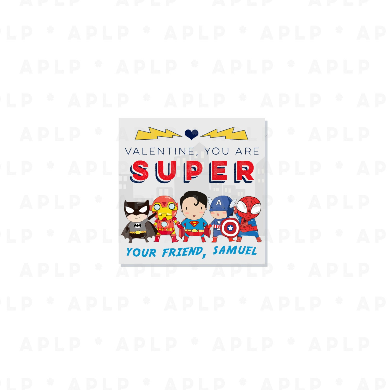 Superheroes Valentines - Superhero Valentine - Party Supplies