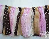Cowgirl Fabric Tie Garland - Cowgirl Fabric Bunting - Cowgirl Bunting - Cowgirl Garland - Cowgirl Party - Cowgirl Banner - Pony Bunting