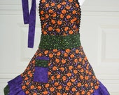 Halloween Apron, Woman's Cooking Apron, Party Apron, Ready to Ship