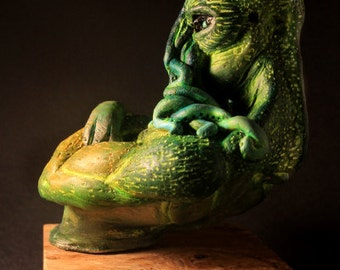 Cthulhu Overlord polymer clay bust OOAK