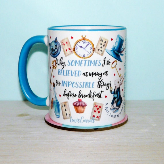 Alice In Wonderland Mug Special Edition, Alice Through The Looking Glass, Mad Hatters Tea Party, Cup, UK