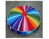 Giant Rainbow Floor Cushion - PDF pattern