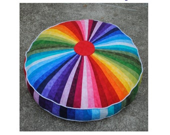 Giant Rainbow Floor Cushion - PDF pattern