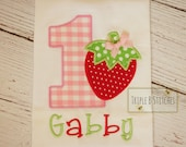 Strawberry Birthday shirt-Strawberry shirts-strawberry birthday onesie