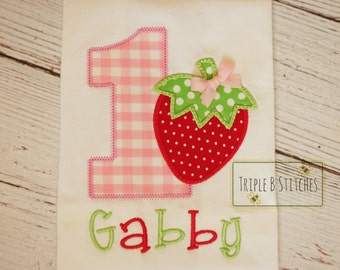 Strawberry Birthday shirt-Strawberry shirts-strawberry birthday onesie