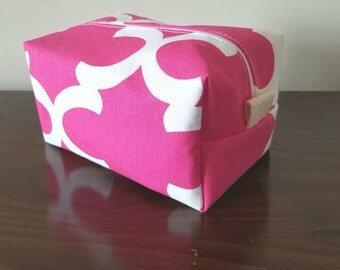 Pink Waterproof Makeup Bag - Cosmetic Bag - Water Resistant Bag
