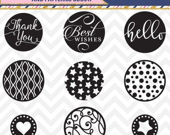 60% OFF SALE Svg Cut Files Round Circle Sentiments Set dxf, svg, eps SDD047