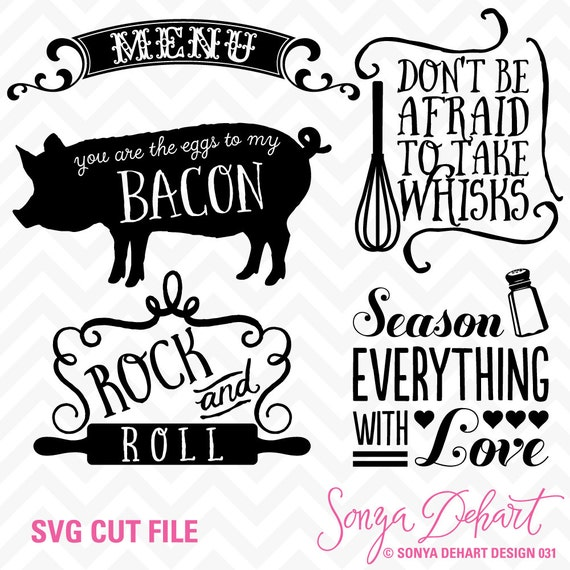 80 off sale svg cuttables kitchen quotes menu pig whisk for Kitchen design quotes