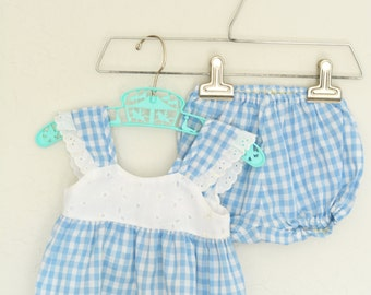 Baby Clothes Vintage Gingham Outfit The Classic Infant
