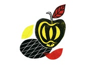 Apple Pop Linocut Print & Chine-collé 3 of 10