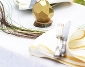 Easter Candle - Faceted Gold Candle - Geometrical Handmade Candle - Modern Easter Decor - Stylish Wedding Gold Candle - Wedding Favors