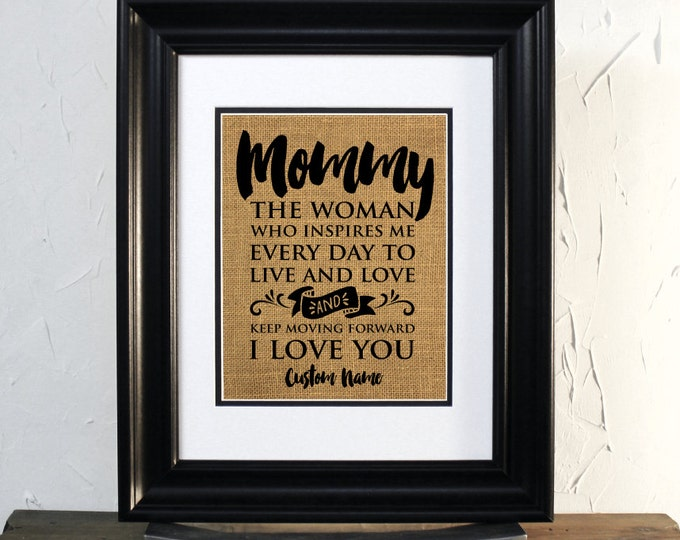 Mom gift, Mother's Day, Wife, A Virtuous Woman, Custom Perfect Gift. Mommy gift, Burlap sign unframed.