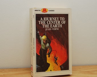 Jules Verne, Journey to the Center of the Earth, vintage paperback book, Minster Classics, 1960s Science Fiction