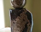 Beautiful Petoskey Stone Sphere on Petoskey Stone Stand (56 mm)