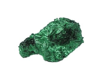 Malachite Green Chatoyant Fibrous Crystals Natural Copper Mineral Specimen African Earth Gemstone Sample for a rock and mineral collection