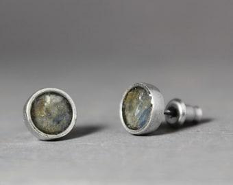 Studs Earrings, Blue Stud Earrings, Blue Kyanite Earrings, Earring Studs, Crystal Earrings, Blue Earrings Studs, Kyanite Earrings Studs,