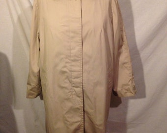 Vintage Dark Tan London Fog Maincoats Trench Coat Size 22 1/2