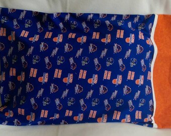 Standard Size Pillowcase - BSU - Boise State University - Blue and Orange - Basketball, Football