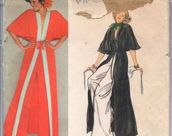 """1970's Vogue Paris Original Robe and Wide Leg Pants - Lanvin - Bust 34"""" - No. 1323"""