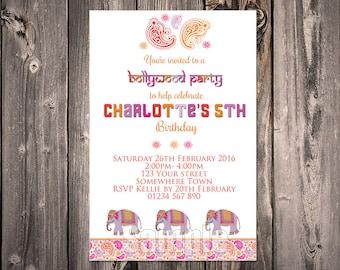 Bollywood Elephant Digital Invitation (print your self)
