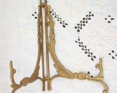 Ornate Photo Easel ~ Folding / Adjustable ~ Vintage ~ Beautiful Brass ~ Picture Stand ~ Wedding / Service Display ~ Picture Photo Holder