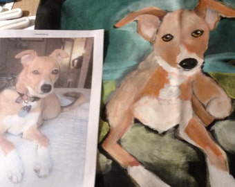 Custom Pet Portrait-Pet on Tote Bag-Pet Painting-One of a Kind-Original Custom Dog Tote-Custom Dog Painting-Cat Tote-Custom Cat Painting