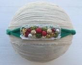 Christmas tieback~Tieback headband~Photography prop~Christmas baby~Photo prop~Green tieback headband~Photography item~Christmas prop