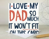 Funny Fathers Day Card - personalised card - card for daddy - fathers day - funny card - card for dad - uk