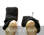 Knitting Pattern: The Inga Hood Knit Bulky Wool Roving Oversized Hooded Cowl Infinity Scarf Men Women Unisex Instant Download Fiber Art