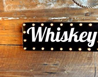 Bar sign Beer sign Whiskey sign Marquee light Liquor sign Retro bar decor Tavern sign Drinks Spirits Vintage bar lights