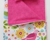 American Girl Doll Clothing; American Girl Doll Sleeping Bag; Flower and Bird Doll Sleeping Bag; Stuffed Animal Sleeping Bag