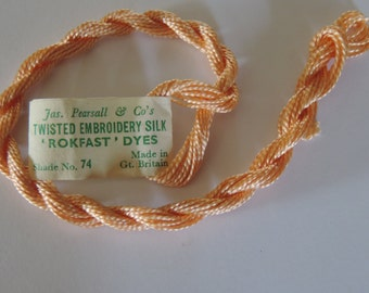 Antique 1900's Pearsall 's Silk  Embroidery Floss Shade 74 Beautiful Peach Color