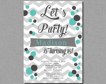 Teen Girl Geburtstags Einladung Teen Geburtstag Einladung Zwischen Geburtstag  Einladung Teen Einladung Tween Einladung
