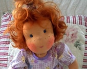 16.8 inch handmade organic Waldorf  doll girl girls doll cloth doll waldorf doll human figure doll ready to go