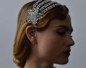 Starry Night Headband - 1920s & 1930s inspired flapper headband, Gatsby, Art Deco, vintage inspired hair accessory