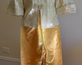 1940s/1950s 2 pc. Gold Pant Suit by Mandarin Fashions