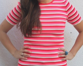 Vintage 90s Striped shirt SIZE SM/ MD