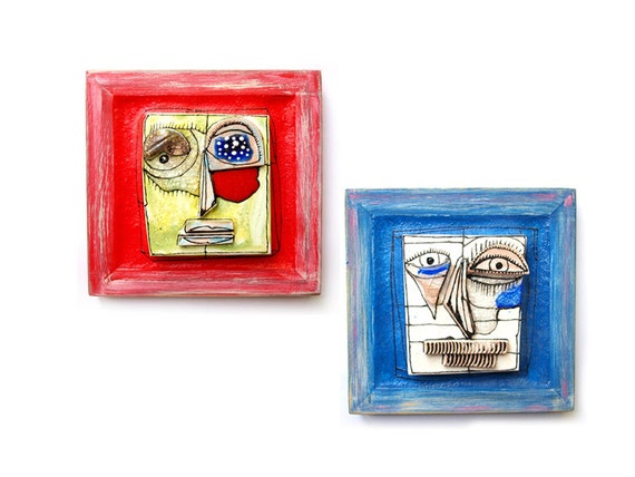 Crazy Wedding Gifts: Crazy Art Modern Ceramics Art Gift For The Couple Blue