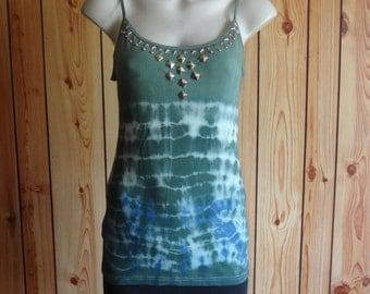 Tie dye studded Tank top. Women's size XL