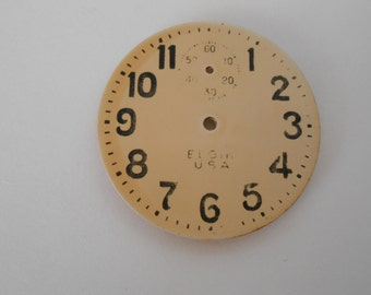 Elgin Pocket Watch Brass Dial Original 43MM(10)