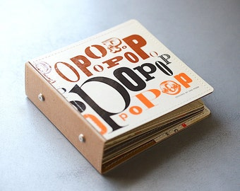 14 CD Wallet, CD/ DVD Storage Book, Cd Holder Handmade from Upcycled Album Cover- Pop Special