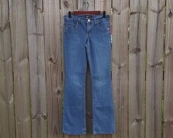 S Small Vintage 90s Sexy L.e.i. Low Rise Embroidered Pocket EDM Rave Raver Jeans Denim
