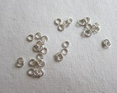 2.8mm x 24 gauge, Sterling Silver Jumprings, 1.8mm ID, Open - Available in 20 & 30 Jump Rings Pkgs and in Larger Pkgs