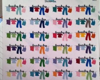 HH173| 24 Clothesline Stickers