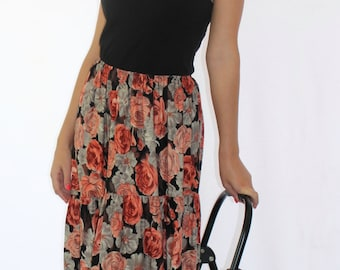SALE!!  Long Boho Floral Skirt